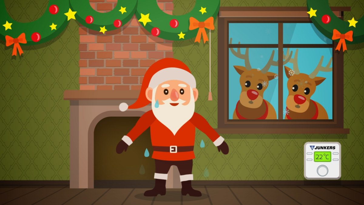 Junkers - kartka świąteczna 2D Animacje